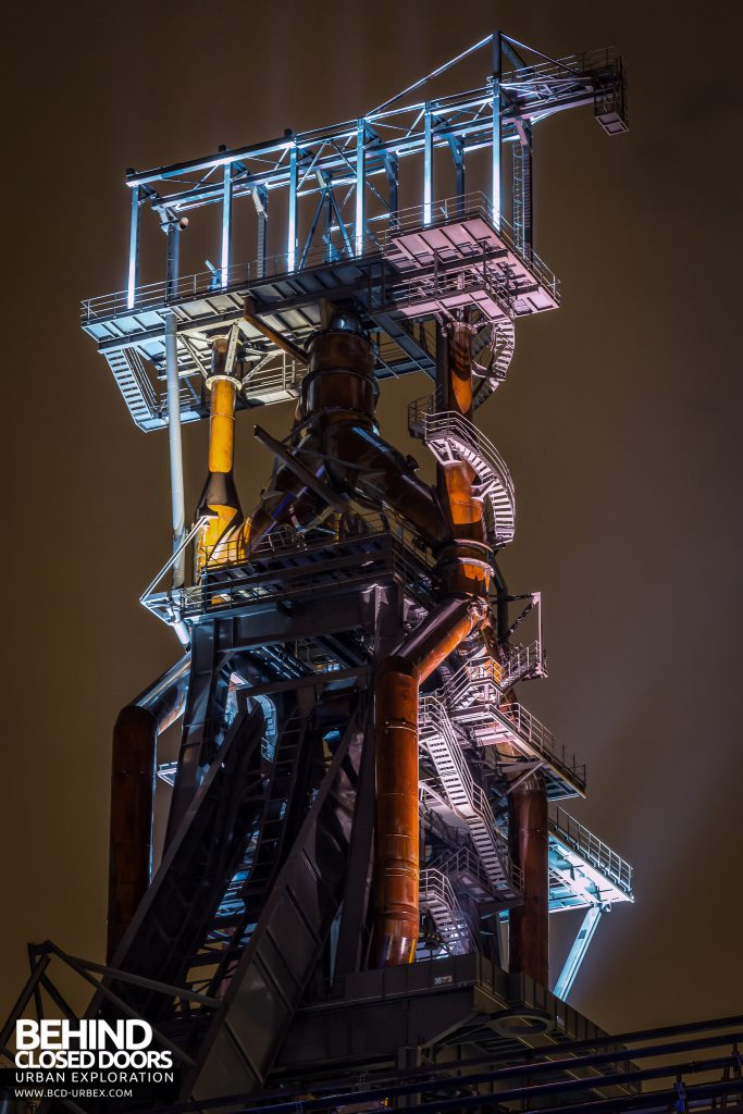 Belval Blast Furnaces - Illuminated blast furnace