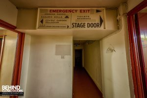 Futurist Theatre - Back stage areas