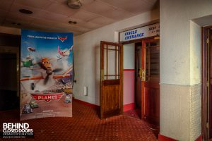 Futurist Theatre - Movie advert stands