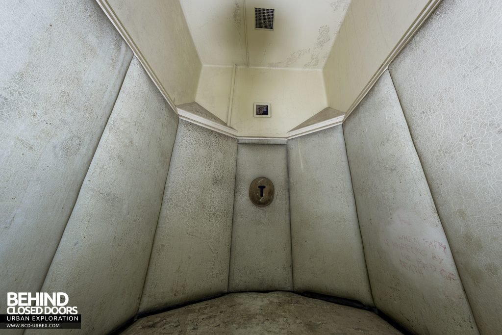 Haslar Padded Cell - Wide view showing the padding