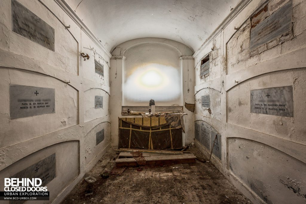 Villa Cripta, Italy - The crypt contains the family elders
