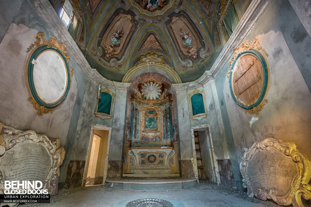 Villa Cripta, Italy - The chapel above the crypt