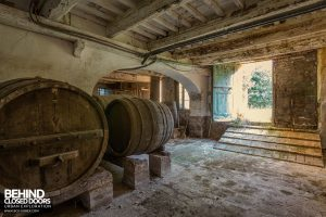 Villa Cripta, Italy - Barrels for wine making