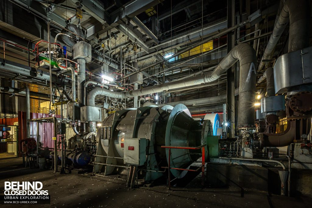 Centrale de Schneider, France - These large machines were below the turbine