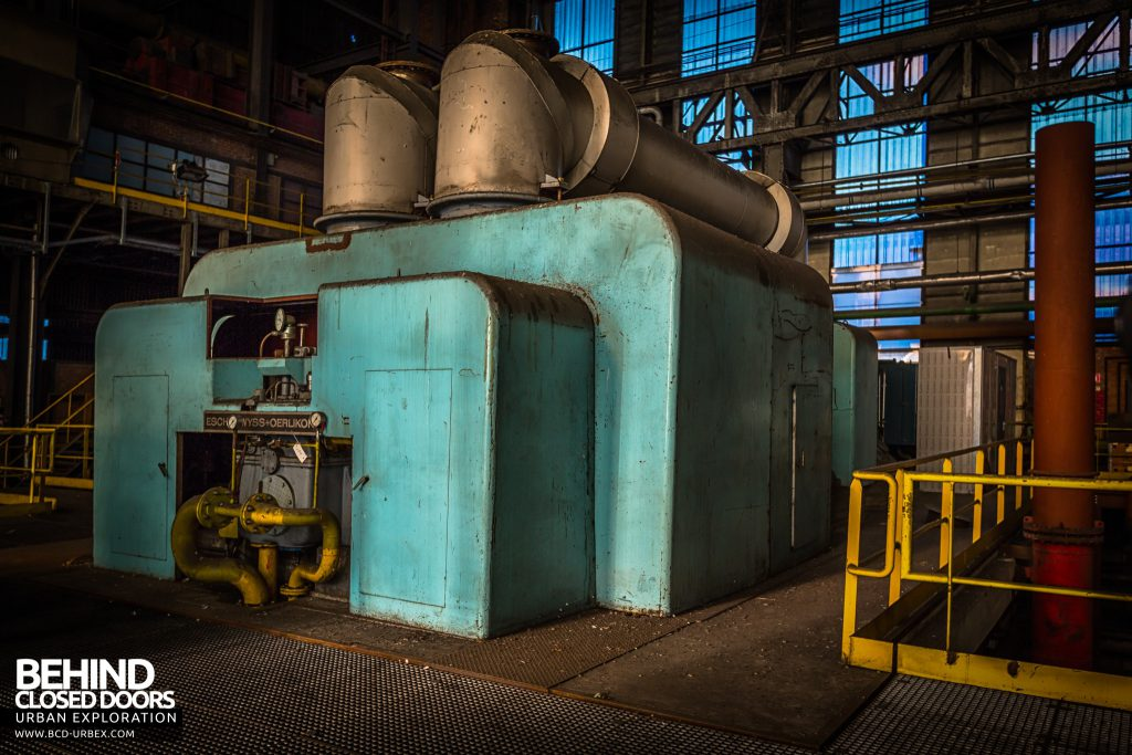 Blue Power Plant - Big Escher Wyss turbine