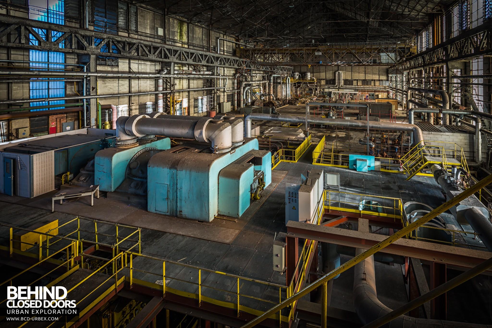 Blue Power Plant Charleroi Belgium Urbex