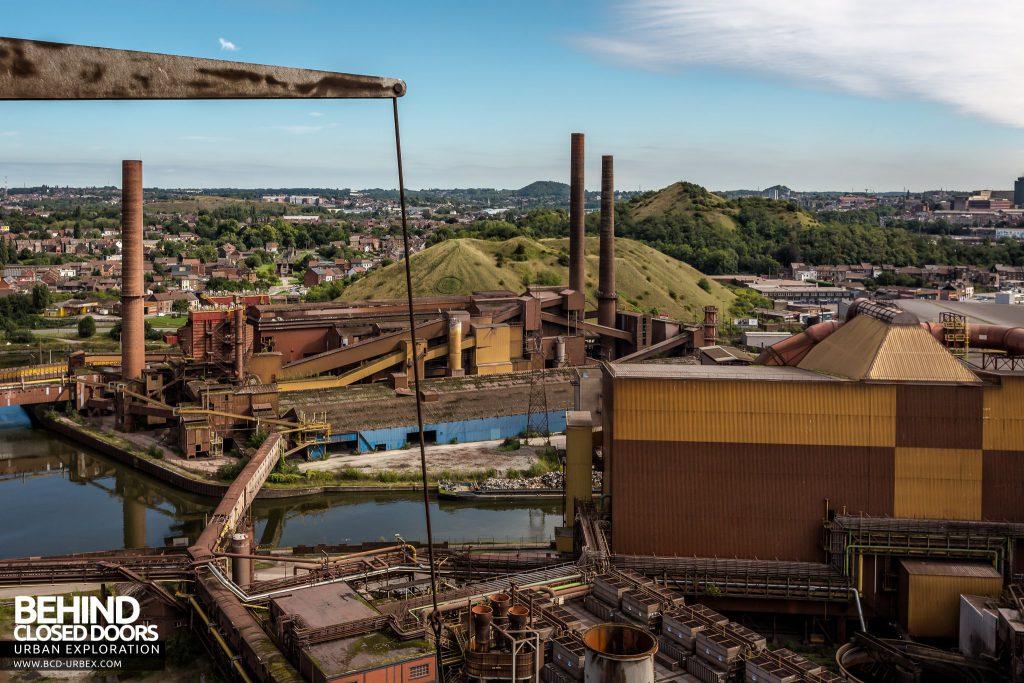 HF4 Blast Furnace, Belgium - Industrial landscape