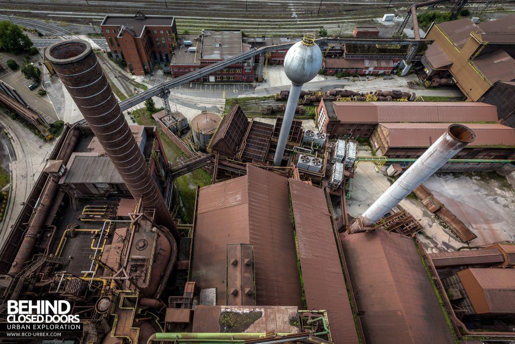 HF4 Blast Furnace, Belgium - View down to the buildings below