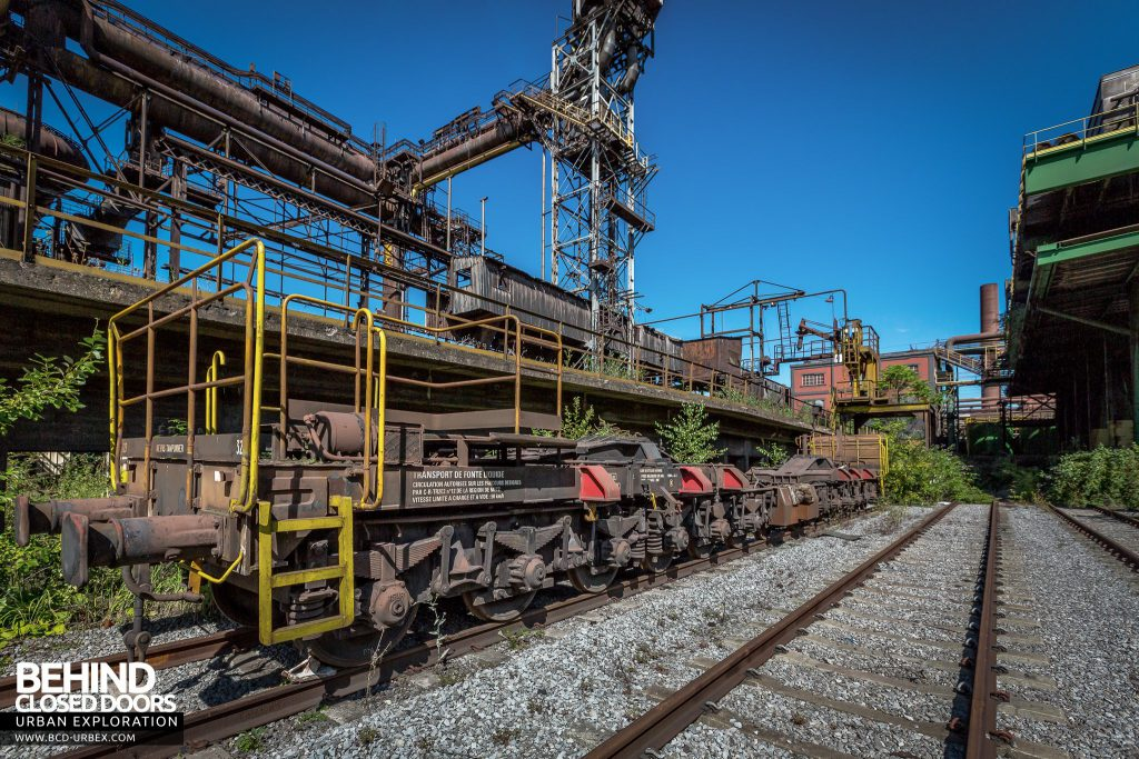 HF4 Blast Furnace, Belgium - The railway transported coal and iron ore to the site