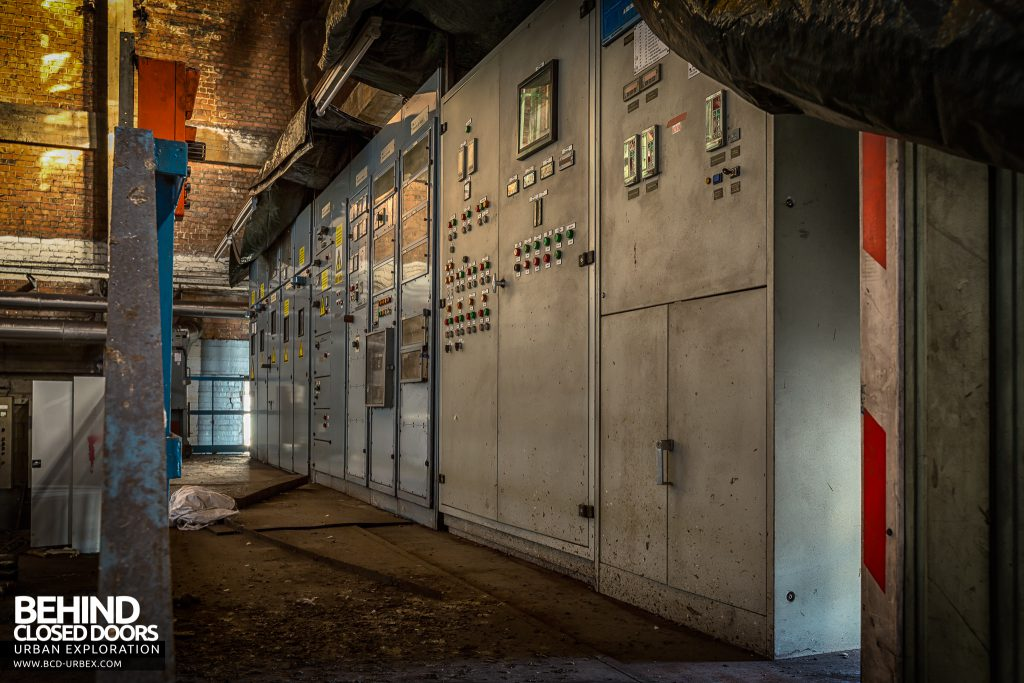 HF4 Blower House, Belgium - Local control panels in blower hall