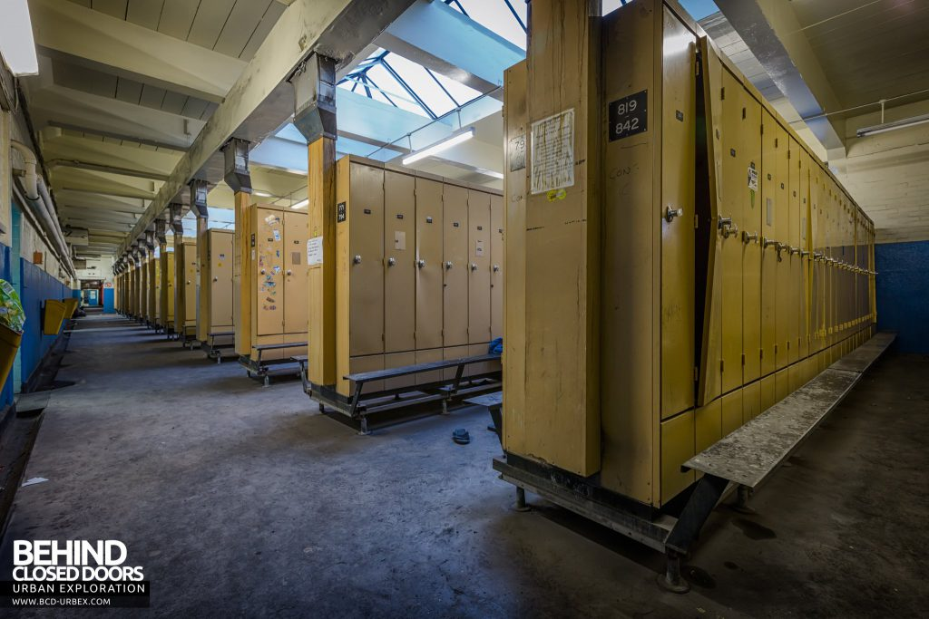 Kellingley Colliery - Locker rooms where the miners would dress