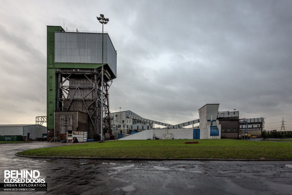 Kellingley Colliery - External with one of the two winding towers.