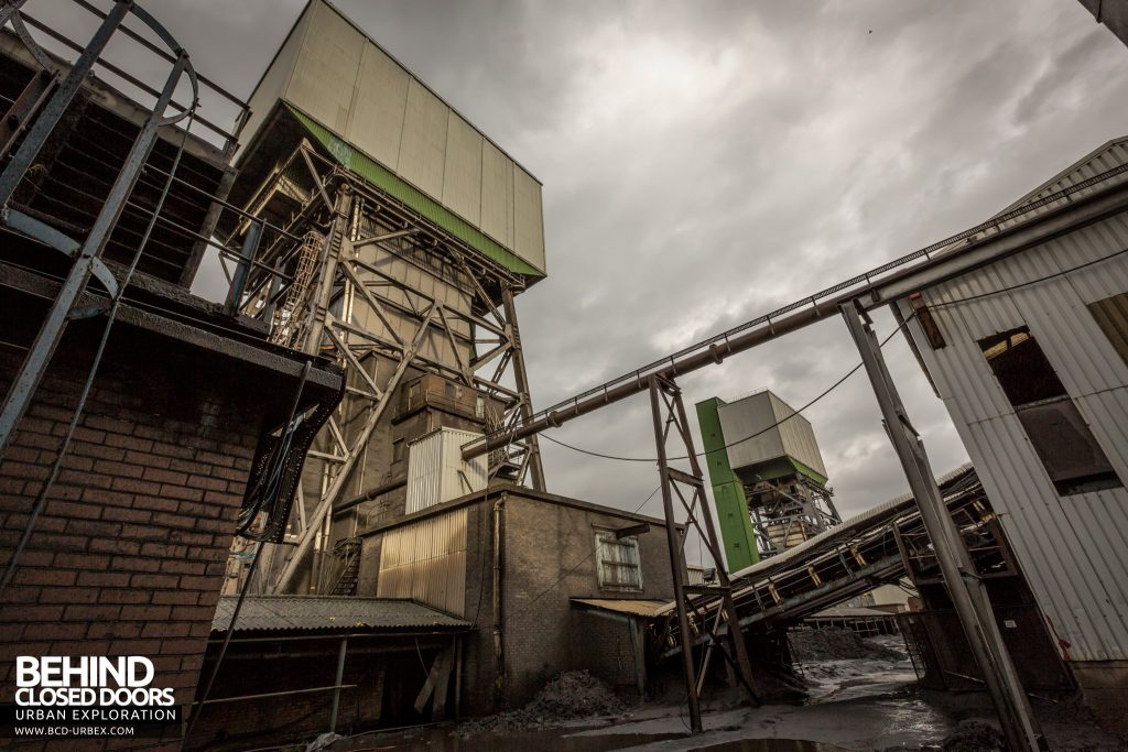 Kellingley Colliery - Winding towers