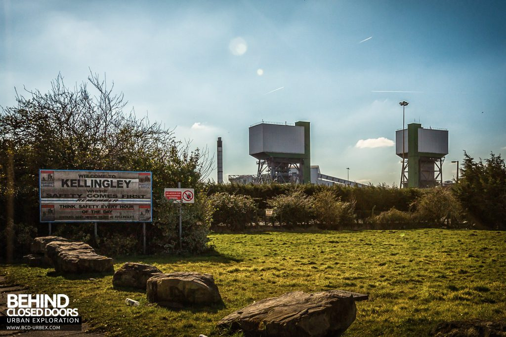 Kellingley - Winding towers viewed from main entrance