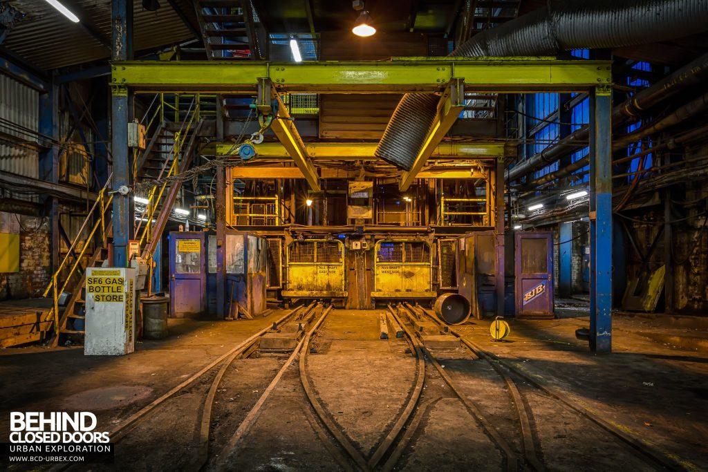 Kellingley Colliery - Shaft 1 railway truck entrance