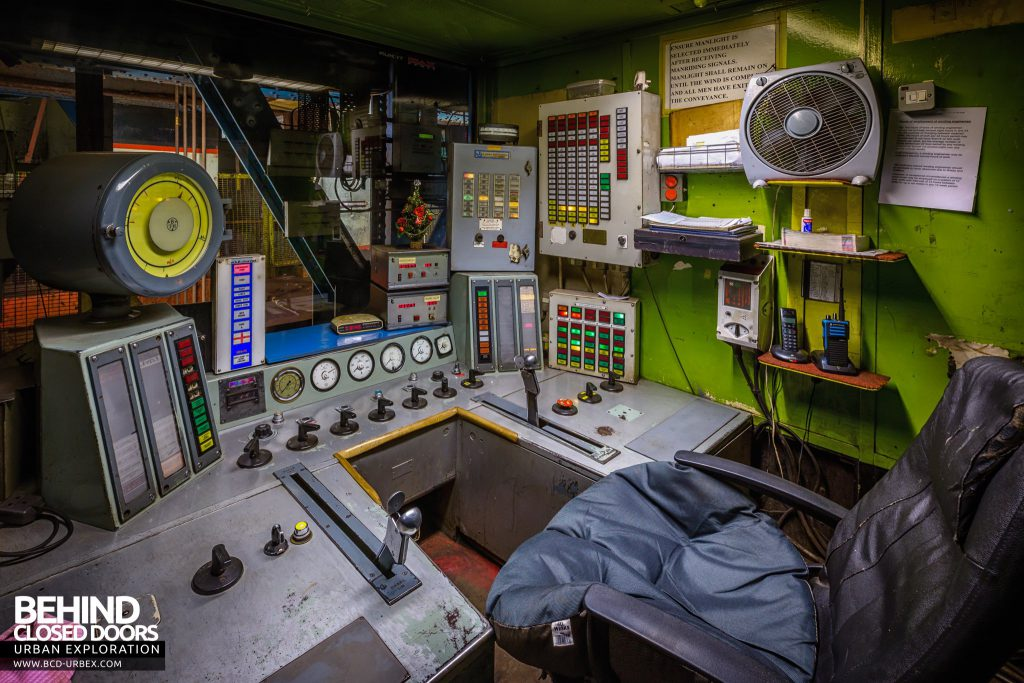 Kellingley Colliery - Winding house control room