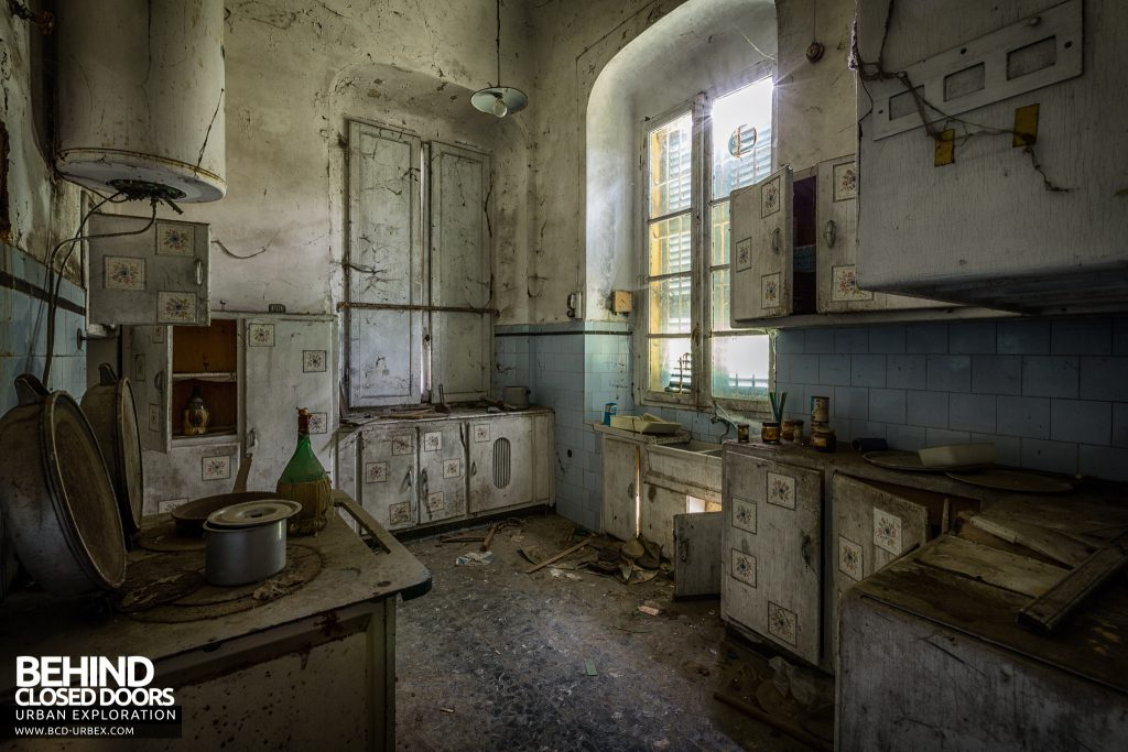 Palace Casino, Italy - Decaying kitchen