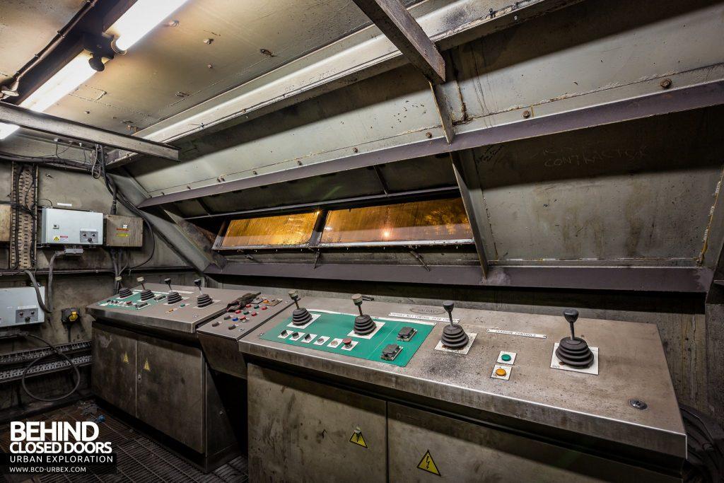 Redcar Blast Furnace - Taphole area control booth