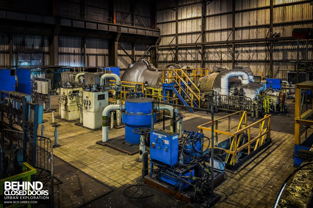Redcar Steelworks Power Station - Compressors for blasting air into the furnace
