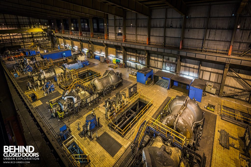 Redcar Steelworks Power Station - Overview of the turbine hall