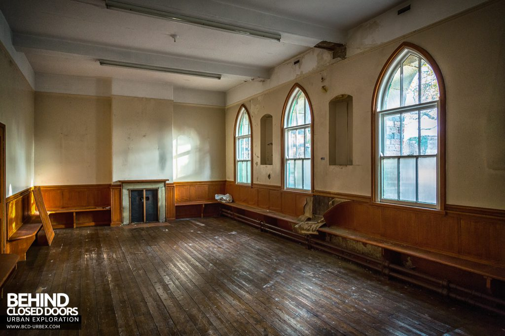 St Joseph's Convent of the Poor Clares - Room with pointed arch windows