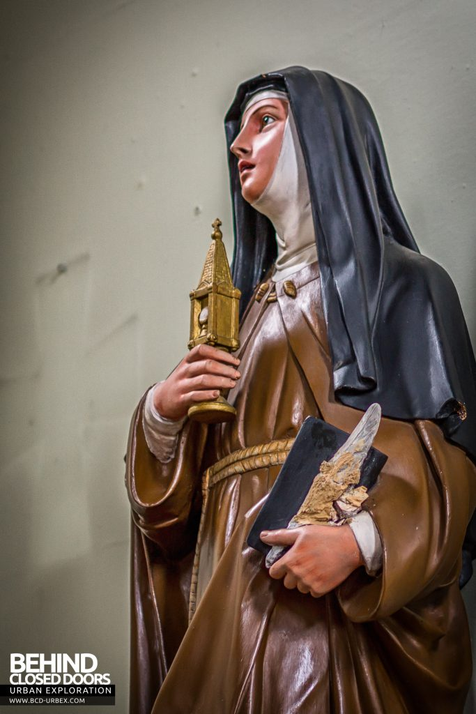 St Joseph's Convent of the Poor Clares - Figure on wall of chapel