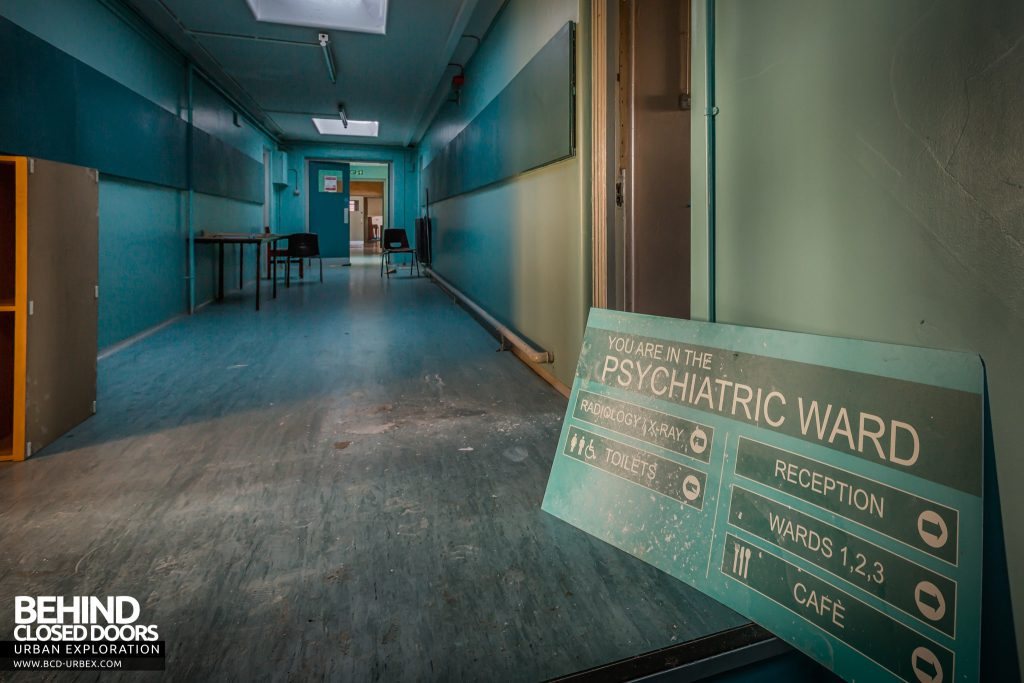 Holly Lodge, Liverpool - Hospital set with Psychiatric ward sign