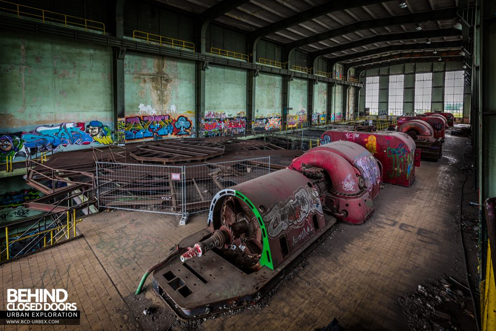 Central Thermique, Luxembourg - View down the turbine hall