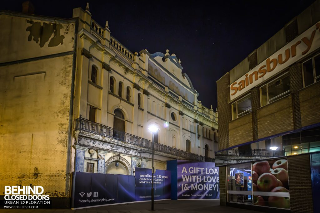 Grand Theatre Doncaster - The frontage is now partially hidden by new developments