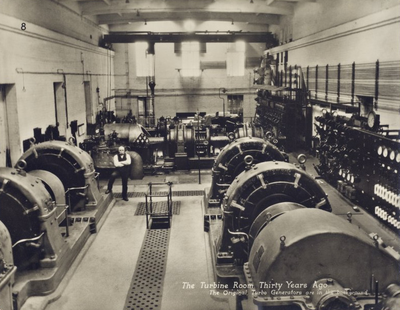 Markinch Power Station - Turbine hall with original Westinghouse sets