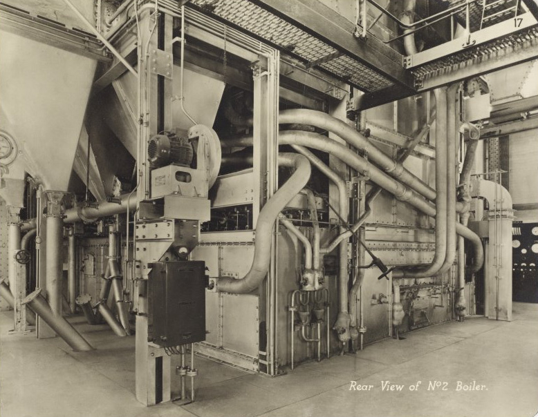 Markinch Power Station - Archive photo of the boiler house