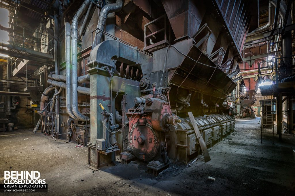 Markinch Power Station - Boiler house with International Combustion boilers