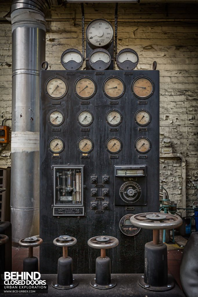 Markinch Power Station - Original gauge panel