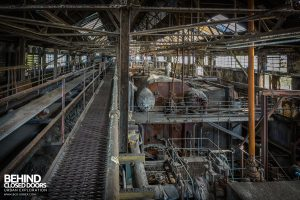 Markinch Power Station - Top of the boiler house