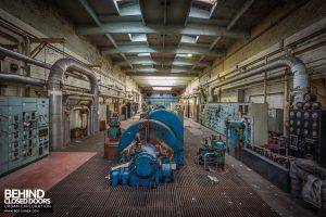 Markinch Power Station - View down the turbine hall