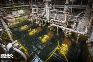 Winnington Works - Pumps in flooded space