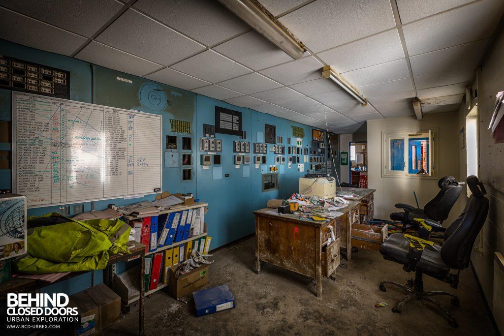 Winnington Soda Ash Works - Dissolver house control room