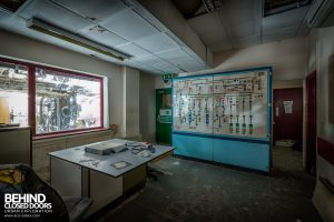 Winnington Works - The control room was more of an office with a monitoring panel