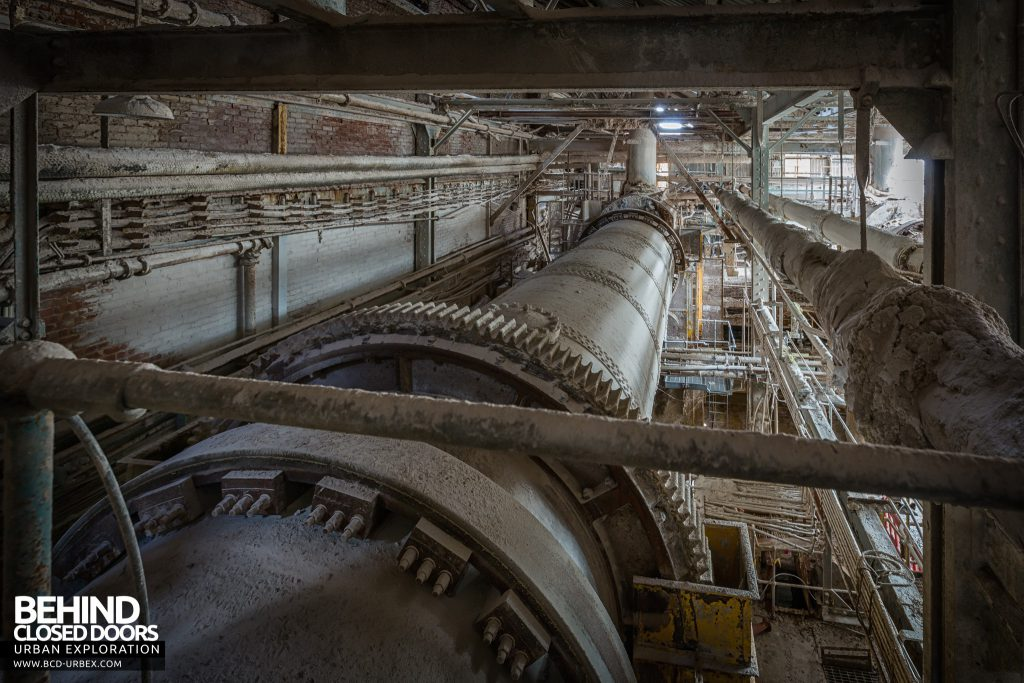Winnington Soda Ash Works - The large pipes would have rotated during use
