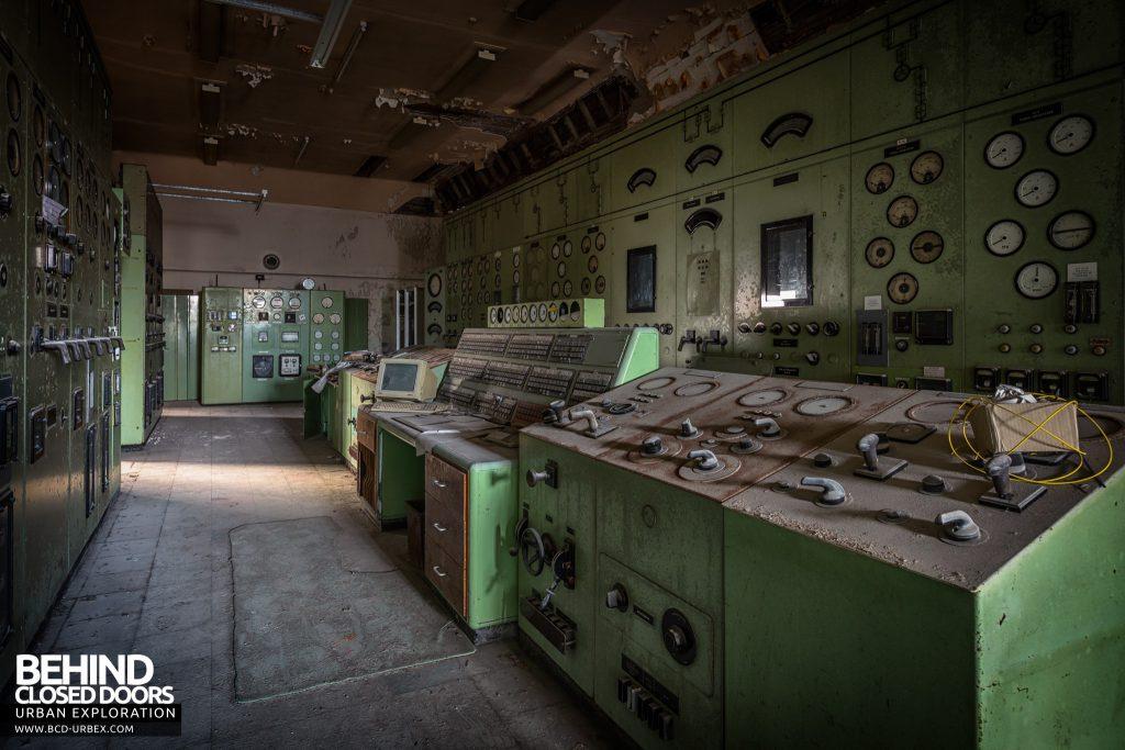 Winnington Soda Ash Works - Power station system control room