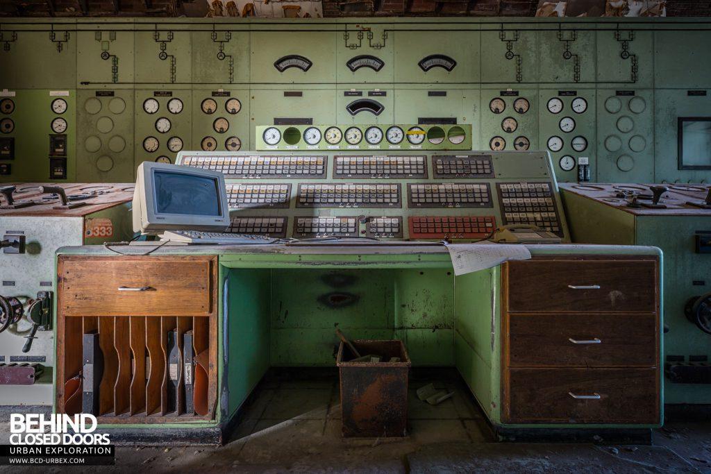 Winnington Soda Ash Works - Central control desk