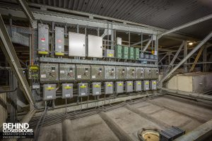 Scartho Baths - Distribution boards above ceiling