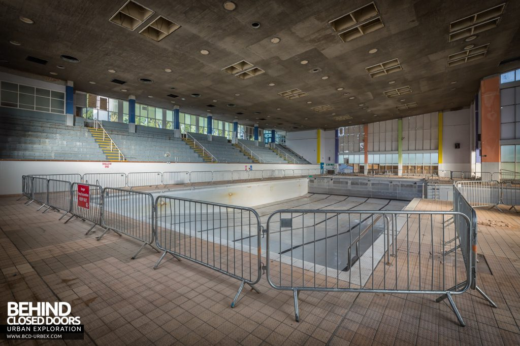 Scartho Baths Swimming Pool, Grimsby - The swimming pool during early demolition works