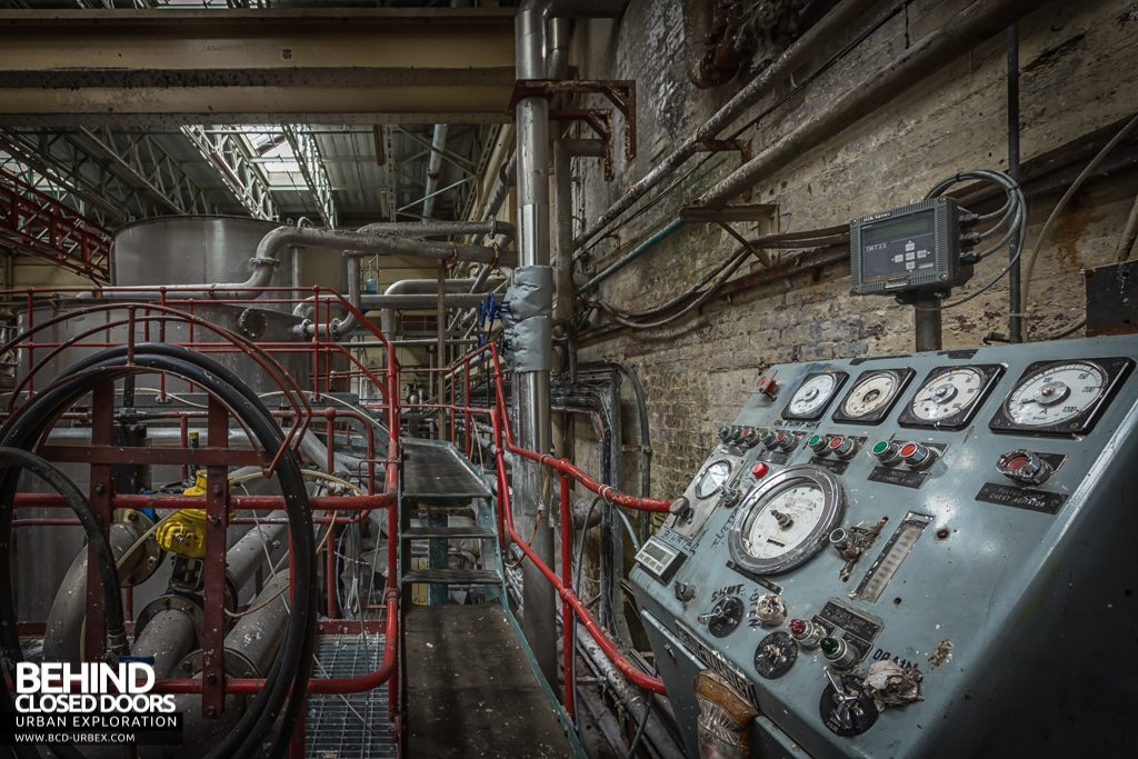 Tullis Russell Papermakers - Control panel in the beater house