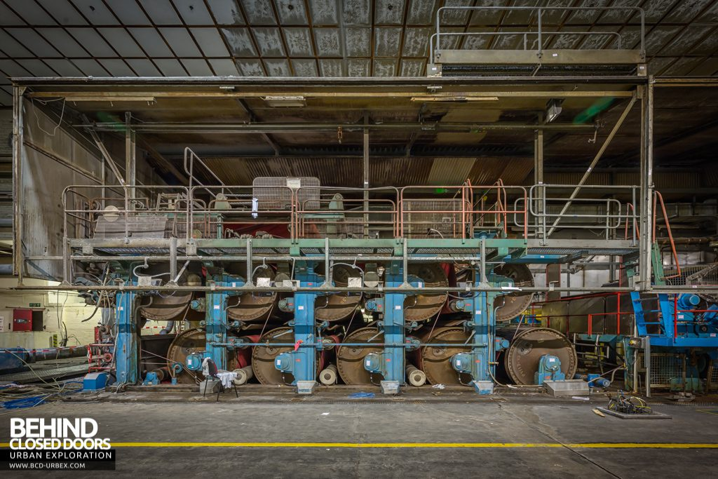 Tullis Russell Papermakers - Only the roller section remained