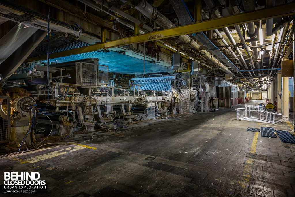 Tullis Russell Papermakers - Lower level of the huge machine