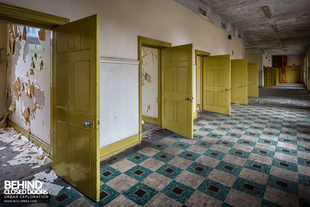 Sunnyside Asylum, Montrose - Row of cell doors