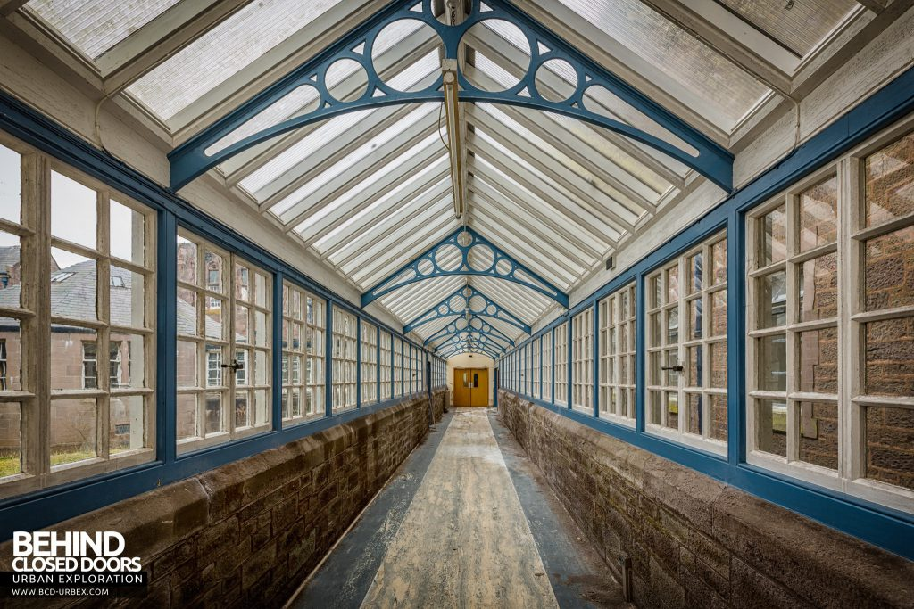 Sunnyside Asylum, Montrose - One of the glass corridors