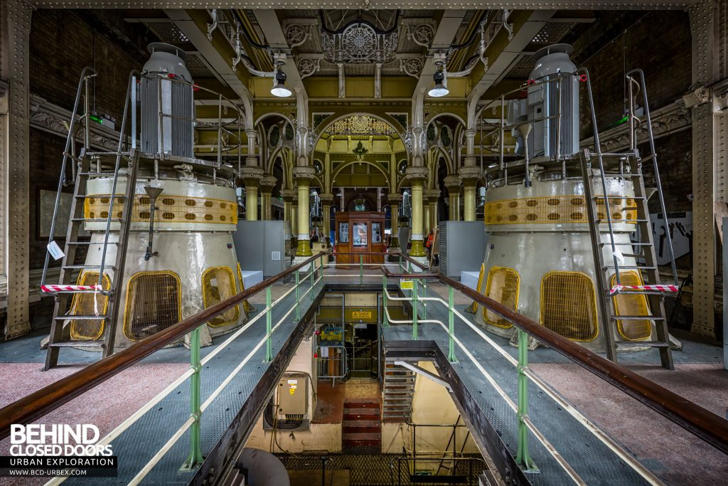 Abbey Mills Pumping Station - Each wing houses two huge pumps