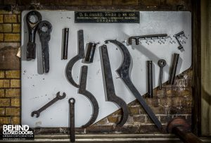 Abbey Mills - Tools hung on board